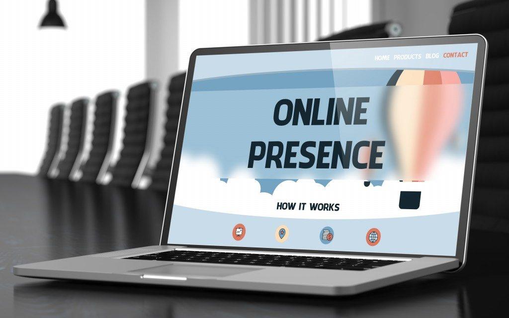 online presence 101 concept