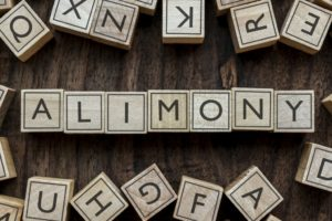 Alimony word on blocks