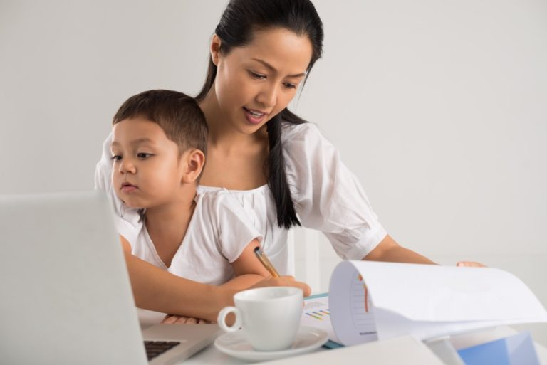 working parent at home